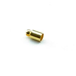 Eindkapje, goud, rond, 8 mm, binnenmaat 3,5 mm (10 st.)