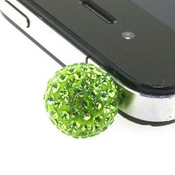 Pimpin glitterbal voor mobiele telefoon, groen, 14 mm (1 st.)