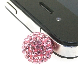 Pimpin glitterbal voor mobiele telefoon, roze, 14 mm (1 st.)