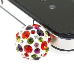 Pimpin glitterbal voor mobiele telefoon, mix, 14 mm (1 st.)