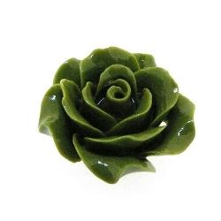 Hanger, roosje, groen, 18 mm (5 st.)
