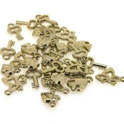 Mix, hanger, metallook, zilver (65 gram)