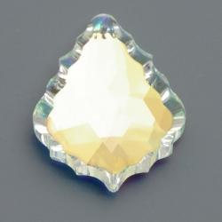 Geslepen glashanger, barok, Crystal AB, 50 x 35 mm (1 st.)