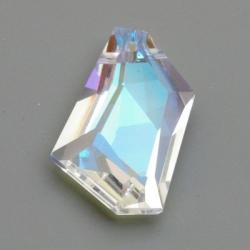 Geslepen glashanger, 6-hoekig, Crystal AB, 45 x 35 mm (1 st.)
