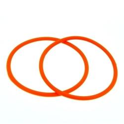 Siliconen armbandje, 3 mm, oranje (1 st.)
