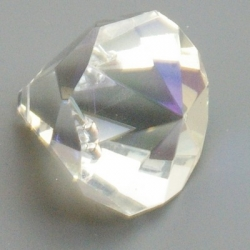 Geslepen glashanger, diamant, Crystal AB, 26 mm (1 st.)