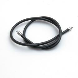 Ketting, rubber, zwart, 4 mm, 50 cm (1 st.)
