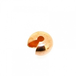 Knijpkraalverberger, roségoud, 4 mm (25 st.)