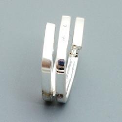 Ring sterlingzilver met Swarovski kristallen, maat 16 (1 st.)