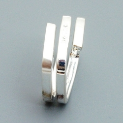 Ring sterlingzilver met Swarovski kristallen, maat 18 (1 st.)