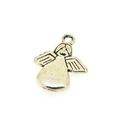 Bedel, engel, Made for an Angel, zilver, 18 mm (5 st.)