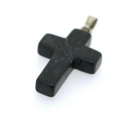 Halfedelsteen hanger Onyx kruis 25 x 14 mm (1 st.)