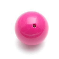 Kunststof kraal rond roze 30 mm (1 st.)