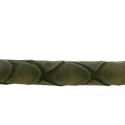 Snakeleather, rond, bruin, mm (1 mtr.)