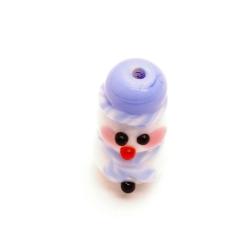 Handgemaakte kerstkraal lichtblauw (1 st.)