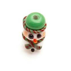Handgemaakte kerstkraal groen (1 st.)