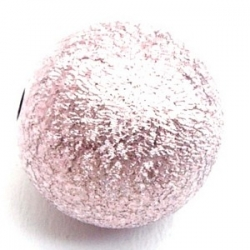 Kunststof kraal rond roze 14 mm (10 st.)