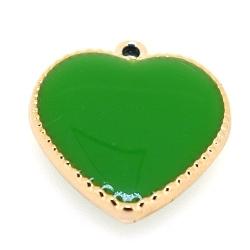 Resin, hanger, hart, groen, 24 mm (3 st.)