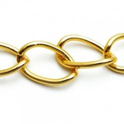 Jasseron ketting, goud, 30 x 20 mm (1 mtr.)