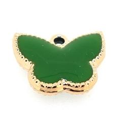 Resin, hanger, vlinder, groen, 14 x 17 mm (6 st.)