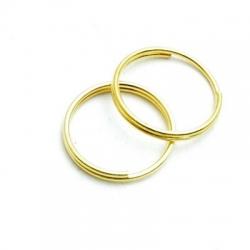 Ring split goud 12 mm (20 st.)