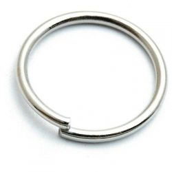 Ring open zilver 25 mm (10 st.)