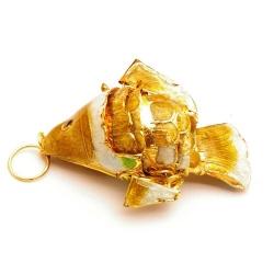 Hanger, cloissone, vis, goud, 34 mm (1 st.)