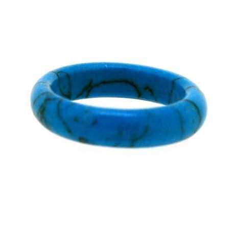Ring, halfedelsteen, Turquoise, maat 17 (1 st.)
