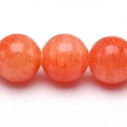 Gekleurd steen kraal, rond, koraal, 10 mm (streng)