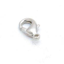 Karabijnslot, antique zilver, 18 mm (5 st.)