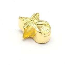 Leerschuiver, DQ, goud, 10 x 13 mm, rijggat 5 mm (5 st.)