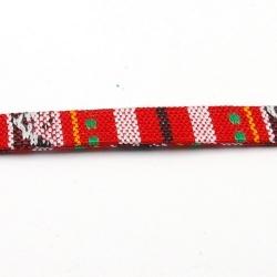 Aztec koord plat rood 10 mm (1 mtr.)