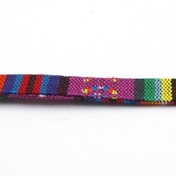 Aztec koord plat paars 10 mm (1 mtr.)