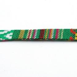 Aztec koord plat groen 10 mm (1 mtr.)
