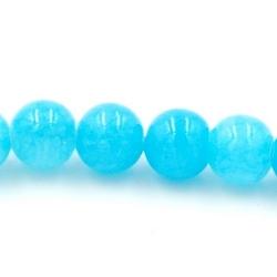 Gekleurd steen kraal turquoise 4 mm (20 st.)