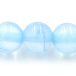 Gekleurd steen kraal lichtblauw 6mm (10 st.)